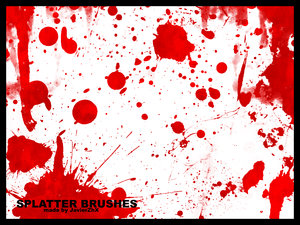 vector splatter drops blood ink