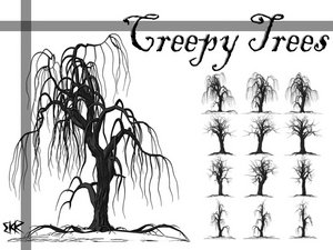 vegetal nature trees creepy tales magic frightening