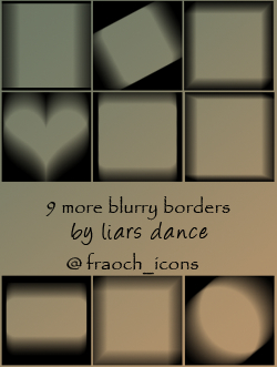 blur blurry borders icons frames