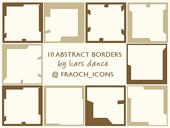 abstract icons borders frames