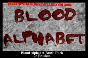 handwriting write blood alphabet letters crime murderer investigation police