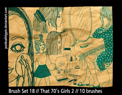filles 1970 seventies dessins