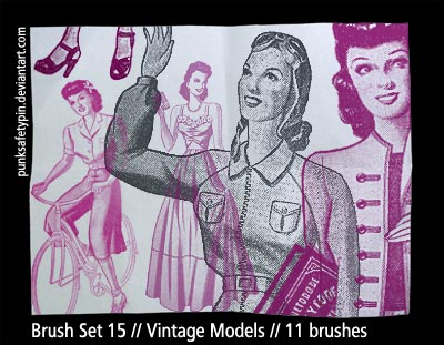 fashion models mode 1950 clothes women drawings