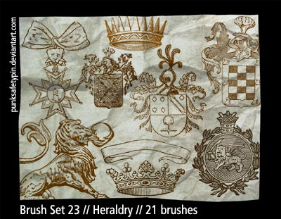 kingdom crowns medals drawings crests