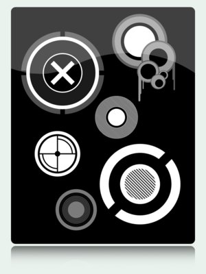 vector shapes circles abstract