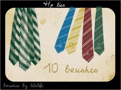 Harry Potter ties school Gryffindor Ravenclaw Hufflepuff Slytherin Hogwarts