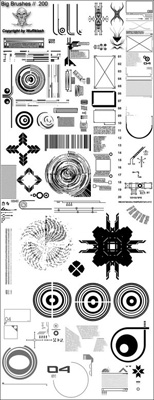 abstract technical shapes vector