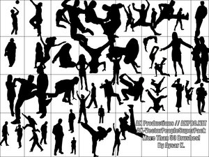 people silhouettes dancers vector