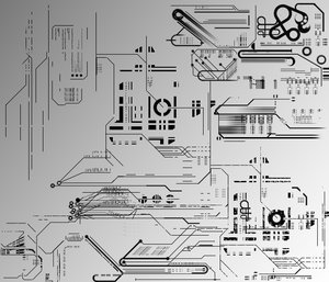 technical drawings vector shapes abstract
