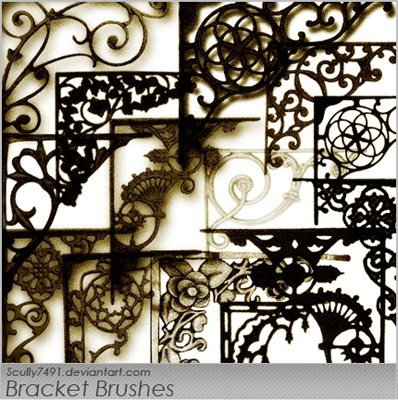 brackets shelves shelf ornaments decoration vintage gothic iron