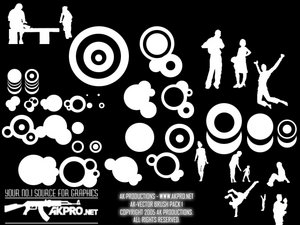 vector shapes circles abstract people silhouettes