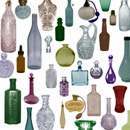 Photoshop: Glass bottles (various types of glass bottles, atomizers, stoppers... )