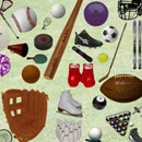 Photoshop: Sports (equipment used in various sports: baseball, billiards, boxing, cheerleading, fishing, football, golf, hockey, ice skating, lacrosse, nascar, ping pong, racquetball, skiing, snowboarding, soccer, surfing, volleyball, weight lifting…)