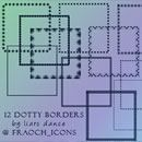 Photoshop: 12 dotty icon borders (icon sized dotty borders)