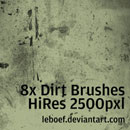 Photoshop: Dirt Photoshop Brush Set (dirt and stains (high résolution))