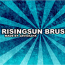 Photoshop: Risingsun Photoshop Brushes (vector rising sun)