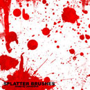 Photoshop: Splatter Photoshop Brushes (vector splatters)