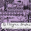 Photoshop: Filigree Photoshop Brushes (arabesques et motifs de bijouterie)