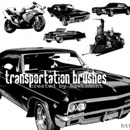 Photoshop: Transportation Photoshop brushes (vintage vehicles (high resolution))