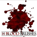 Photoshop: 14 Blood Photoshop Brushes v2 (blood drops)