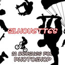 Photoshop: Silhouette Photoshop brushes (silhouettes of sportists)