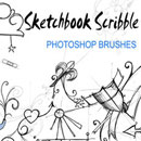Photoshop: Sketchbook Scribble Photoshop Brushes (croquis et dessins)