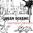 Photoshop: Urban Scrawl Photoshop Brushes (dessins d'imeubles)
