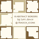 Photoshop: abstract borders (100x10+O1800 abstract borders)