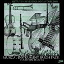 Photoshop: Musical Instrument Photoshop Brush Pack (musical instuments)