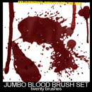 Photoshop: Blood Photoshop Brush Pack 1.0 (blood drops and stains)