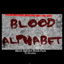 Photoshop: Blood Alphabet Photoshop Brushes (blood alphabet)