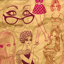Photoshop: Photoshop Brush Set 17 - That 70s Girls (70s girls drawings)