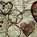 Photoshop: Photoshop Brush Set 01 - Grunge Shapes (hearts and circles)