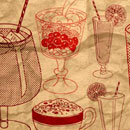 Photoshop: Photoshop Brush Set 16 - Retro Drinks (retro drinks drawings)
