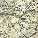 Photoshop: Photoshop Brush Set 21 - Boney Doodles (bones, skulls and heart drawings)