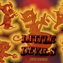 Photoshop: little devils Photoshop brushes (little demons)