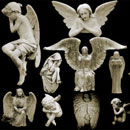 Photoshop: Cemetery Angels (angel sculptures)