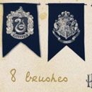 Photoshop: Hp misc (Hogwarts flags)