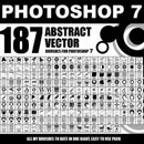 Photoshop: 187 ABSTRACT VECTOR FOR PS7 (formes vectorielles)