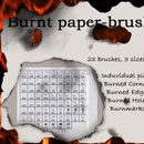 Photoshop: Burnt paper-brushes (burnt papers)