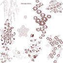 Photoshop: Japanese Stencil Photoshop Brushes (motifs floraux japonais)