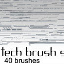 Photoshop: Z-design Tech Photoshop brushes set v3 (dessins techniques et formes vectorielles)