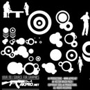 Photoshop: AK-VectorBrushPack01 (vector circles and silhouettes)