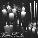 Photoshop: Candles Photoshop Brushes Set 2 (various candles)