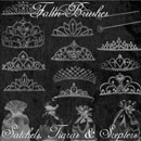 Photoshop: Princess Things Photoshop Brushes Set (satchels, tiaras, and scepters)