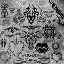Photoshop: Tribal Photoshop Brushes (tattoo patterns)