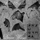 Photoshop: Bat Demon Wings Photoshop Brushes (bat wings)