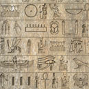Photoshop: Hieroglyphs (symbols) (various Egyptian gods (Isis, Bastet, etc), hieroglyphic symbols, and miscellaneous other images)