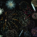 Photoshop: Fireworks - Celebration (various fireworks)