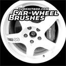Photoshop: Car-wheel Photoshop brushes (various car wheels - high resolution)